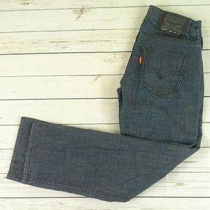 New Levi Strauss 513 Boy's Jeans Blue 10 Reg 25/25